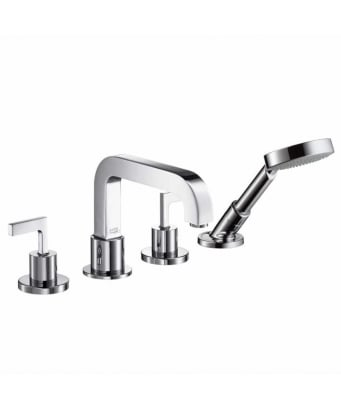 Axor Citterio 4-Hole Tile Mounted Bath Shower Mixer with Lever Handles