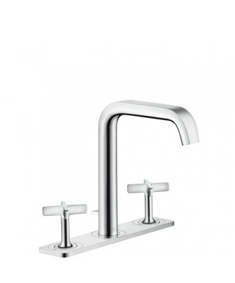 Axor Citterio E 3-Hole Basin Mixer 170 with Plate