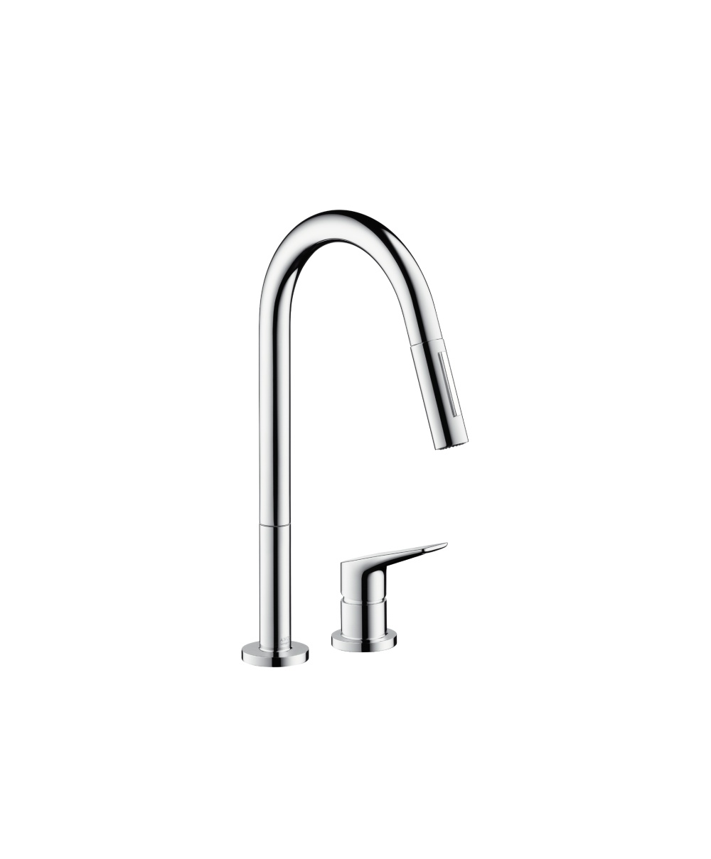 Axor Citterio M 2 Hole Kitchen Mixer With Pull Out Spray Axor From