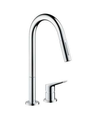 Axor Citterio M 2-Hole Kitchen Mixer with Pull-Out Spray
