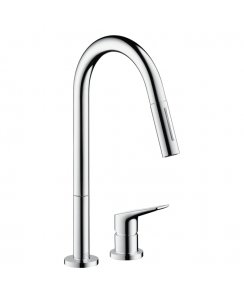 Citterio M 2-Hole Kitchen Mixer with Pull-Out Spray