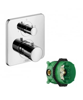 Axor Citterio M Concealed Thermostatic Mixer With Shut-Off & Diverter Valve and iBox