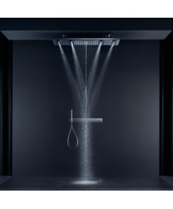 ShowerHeaven 1200 x 300mm 4-Jet Overhead Shower & Basic Set