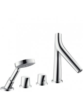 Axor Starck Organic 4-Hole Thermostatic Bath Shower Mixer