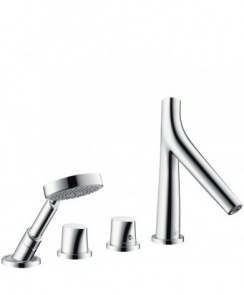 Starck Organic 4-Hole Thermostatic Bath Shower Mixer