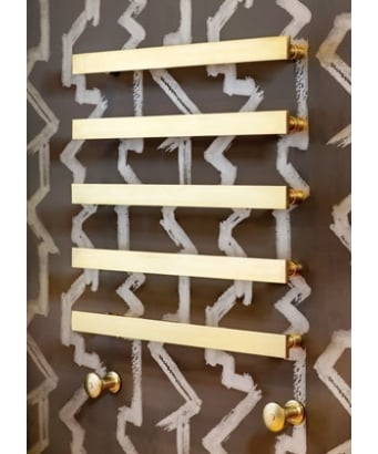 Bard and Brazier Floating Zingo Sultan Wall Mounted Towel Rail - Hydronic - Including Valves