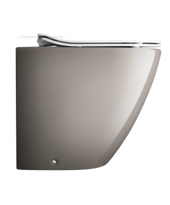 Bauhaus Svelte Platinum Back to Wall Toilet