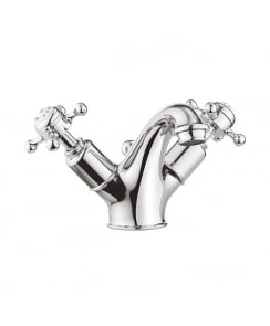 Belgravia Crosshead Monobloc Basin Mixer with Pop-Up Waste
