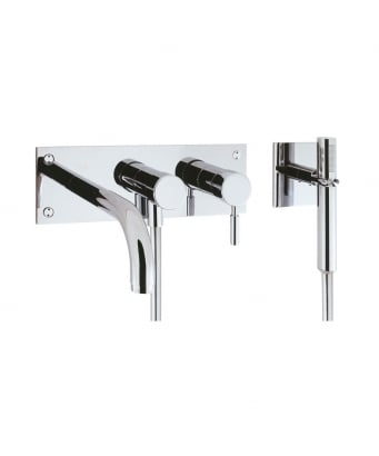 Crosswater Design 3 Hole Bath Shower Mixer with Kit