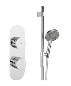 Dial Valve 1 Control Shower Set with Central Trim