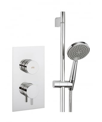 Crosswater Dial Valve 1 Control Shower Set with Kai Lever Trim