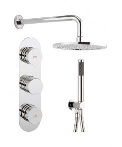 Dial Valve 2 Control Shower Set with Central Trim