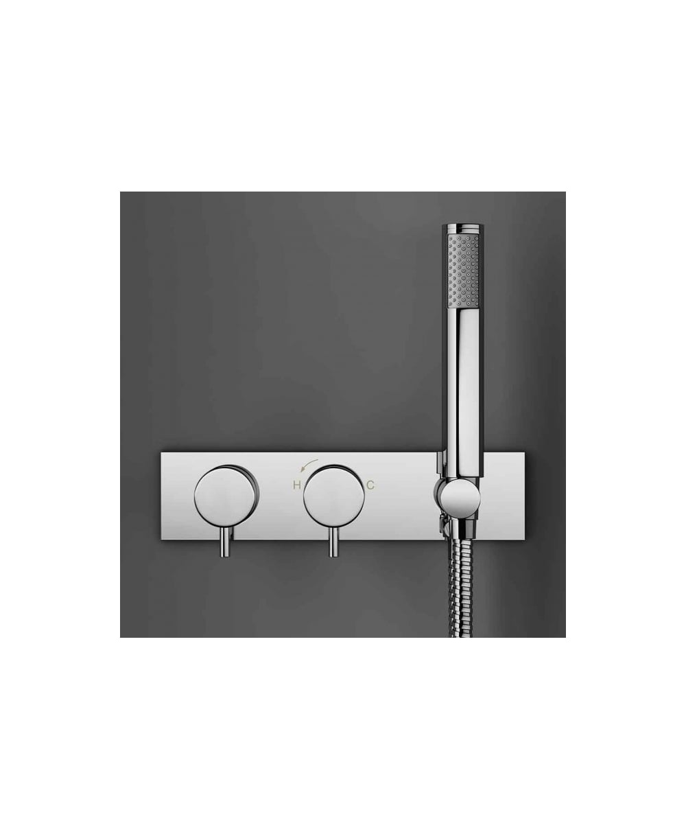 ... Crosswater Kai Lever Thermostatic Shower Valve With 2 Way Diverter U0026  Handset ...