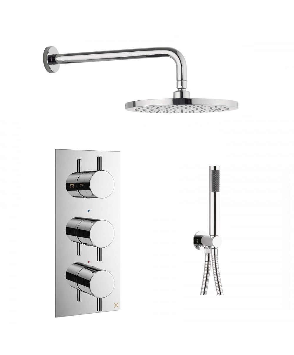 Crosswater Mike Pro Thermostatic Valve Arm Showerhead