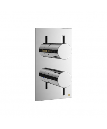 Crosswater MPRO Double Outlet Thermostatic Bath Shower Valve