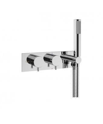 Crosswater MPRO Double Outlet Thermostatic Bath Shower Valve With Kit