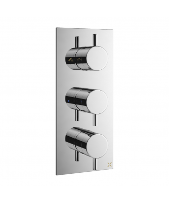 Crosswater MPRO Triple Outlet Thermostatic Bath Shower Valve