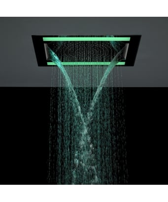 Crosswater Rio Revive Showerhead with Lights and Double Waterfall Feature