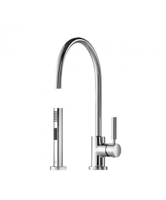 Dornbracht Tara Classic Single Lever Kitchen Sink Mixer with Rinsing Spray Set