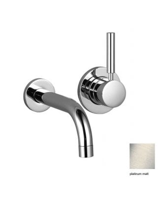 Dornbracht Tara.Logic Wall-Mounted 2 Hole Single Lever Basin Mixer and Concealed Part and Waste