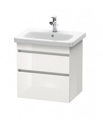 Duravit DuraStyle 650mm 2 Drawer Vanity Unit and 1 Tap Hole Basin - White High Gloss