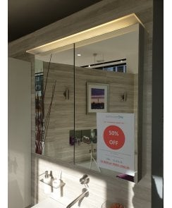 Duravit Happy D.2 LED Gloss White Bluetooth Mirror Cabinet 800w With Socket - EX DISPLAY