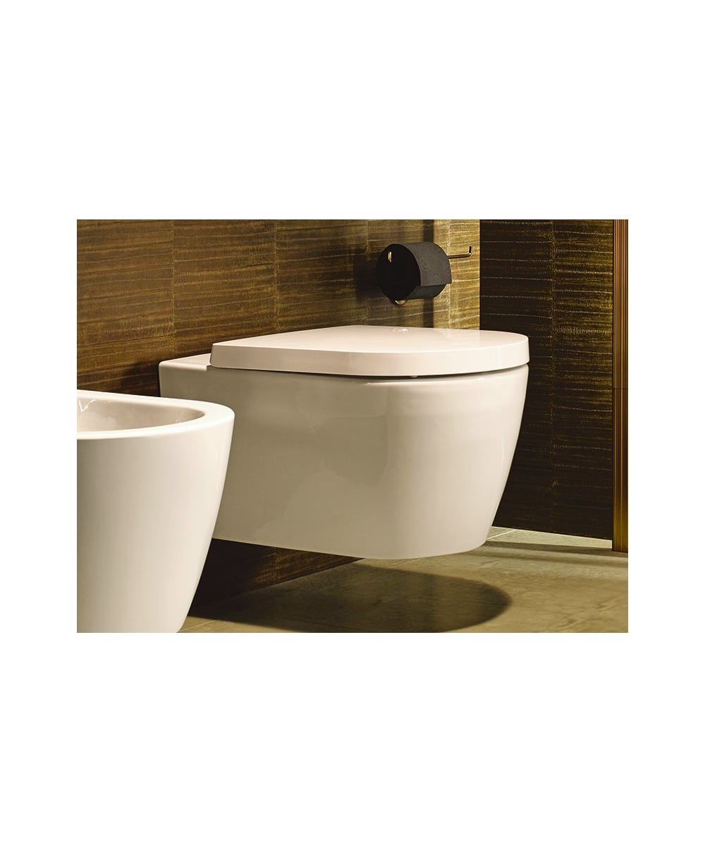Spa bathroom suites - Me By Starck Rimless Wall Hung Toilet