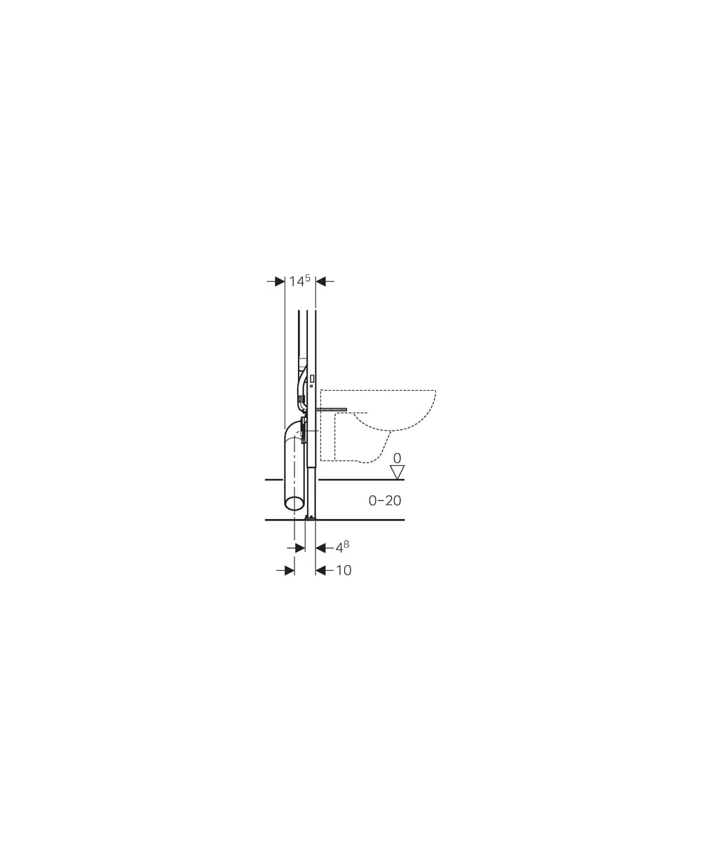 Geberit duofix frame for wall hung wc h82 with omega cistern 12cm -  Geberit Duofix Frame For Wall Hung Wc H114 With Sigma Cistern 8cm
