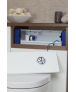 Geberit Duofix Frame for Wall-Hung WC, H79, with Concealed Cistern for Low Height Furniture, Pneumatic, Dual Flush