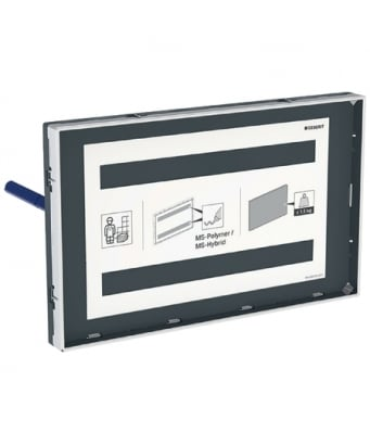 Geberit Sigma Cover Plate, Surface-Even - With Chrome Frame