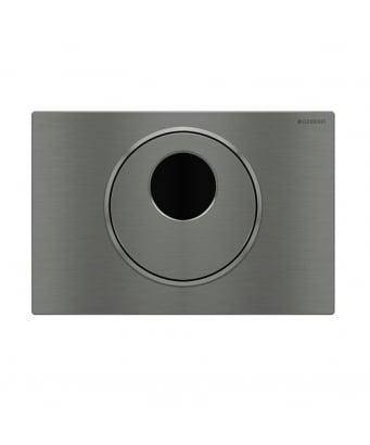 Geberit Sigma10 Electronic Dual Flush Plate - Mains Operation - For Sigma 8cm Cistern - Anti-Vandal