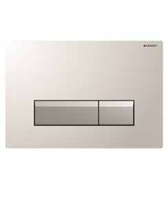 Sigma40 Dual Flush Plate with Odour Extraction - Glass