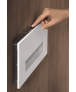 Geberit Sigma40 Dual Flush Plate with Odour Extraction - Glass
