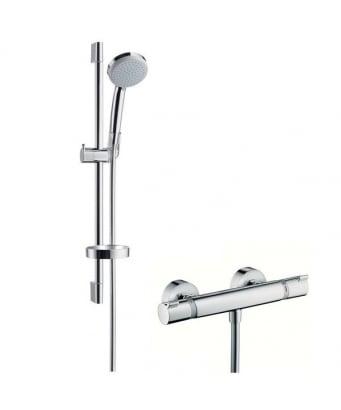 Hansgrohe Croma 100 Vario/Ecostat Comfort Combi Shower Set 0.65m