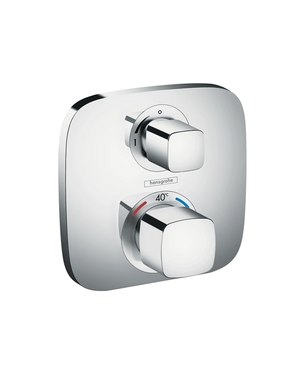Hansgrohe Ecostat E 1 Outlet Concealed Thermostatic Shower Mixer