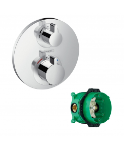 Ecostat S Concealed Thermostatic Mixer with Integrated Shut-off & Diverter Valve and with iBox