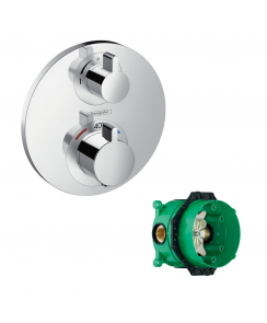 Ecostat S Concealed Thermostatic Mixer with Shut-off Valve and with iBox