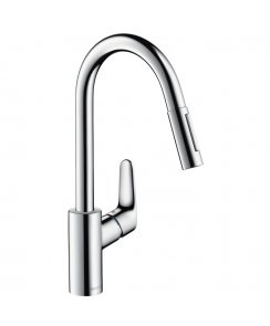Focus Single Lever Kitchen Mixer with Pull-Out Spray