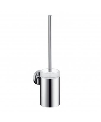 Hansgrohe Logis Toilet Brush with Glass Holder