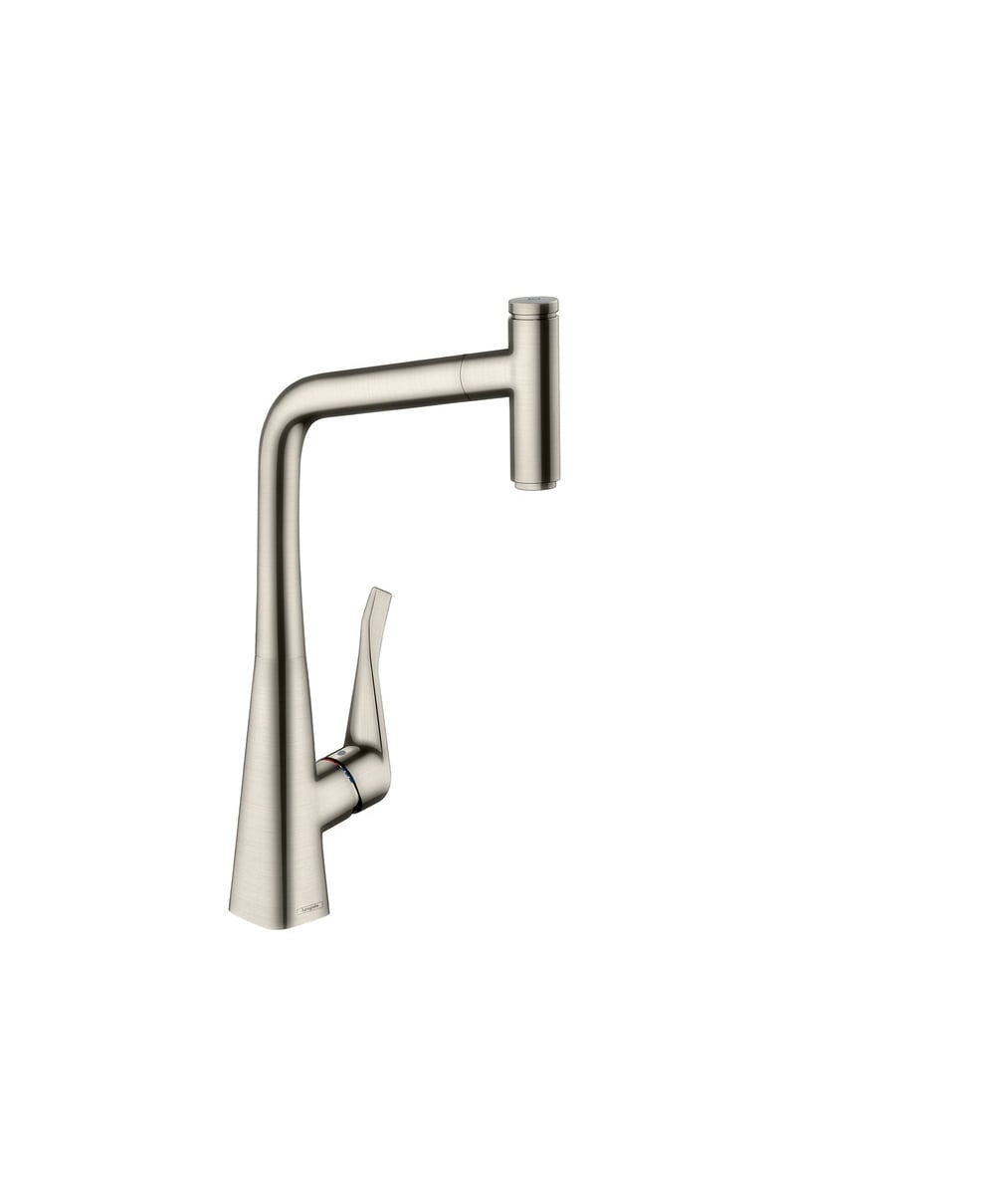 Hansgrohe Metris Select Single Lever Kitchen Mixer 320 With Pull Out Spout