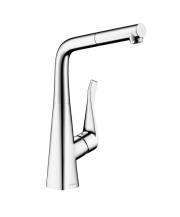 Metris Single Lever Sink Mixer with Pull-Out Spout
