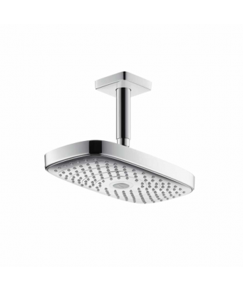 Hansgrohe Raindance Select E 300 2Jet Overhead Shower with 100mm Ceiling Connector