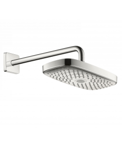 Raindance Select E 300 2Jet Overhead Shower with 390mm Shower Arm