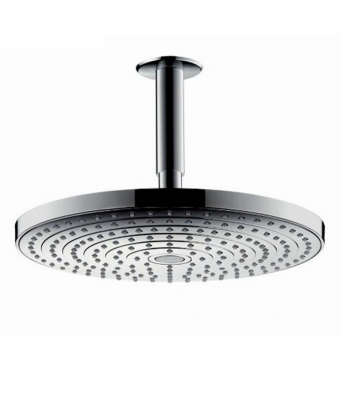 Hansgrohe Raindance Select S 240 2Jet Overhead Shower with 100mm Ceiling Connector