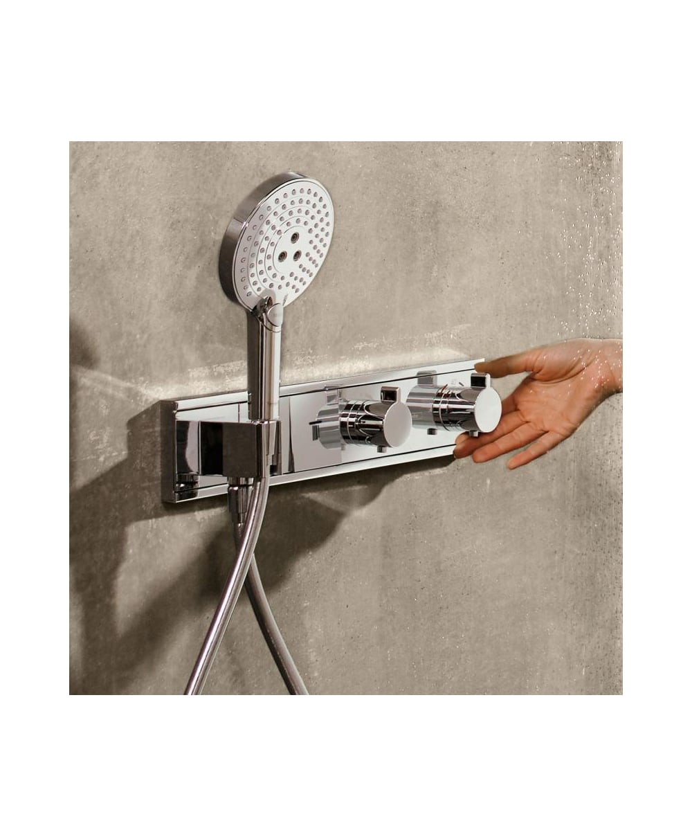 Hansgrohe RainSelect 2 Outlet Concealed Thermostatic Shower Mixer