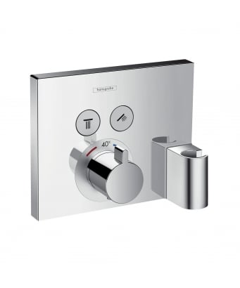 Hansgrohe ShowerSelect 2 Outlet Concealed Thermostatic Shower Mixer with Fixfit and Porter Unit