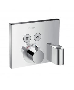 ShowerSelect 2 Outlet Concealed Thermostatic Shower Mixer with Fixfit and Porter Unit