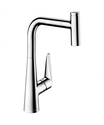Hansgrohe Talis Select S Single Lever Kitchen Mixer 300 with Pull-Out Spout
