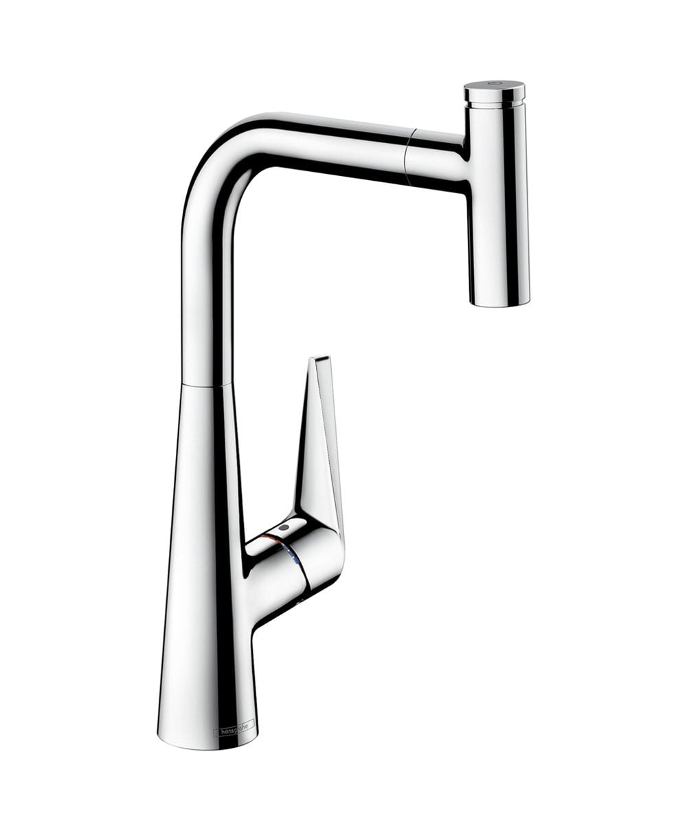 Hansgrohe Talis Select S Single Lever Kitchen Mixer 300 With Pull Out Spout