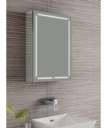 HIB Groove LED Mirror Cabinet